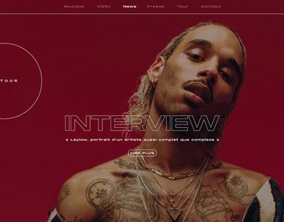 HIP HOP ARTISTS / webdesign - ui - ux
