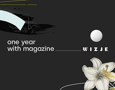 10 collages set / one year with magazine Wizje