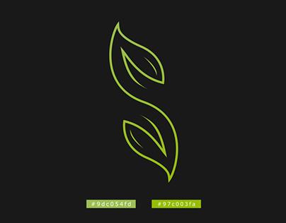S + Leaf logo concept