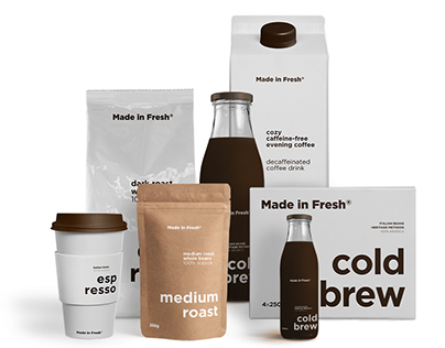 Made in Fresh visual identity and packaging