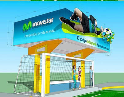 Caseta Bus 3D Movistar
