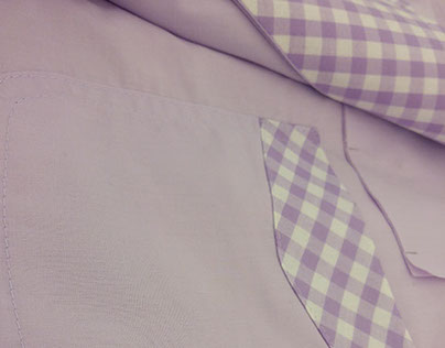 Purple Dress Shirt with Gingham Details