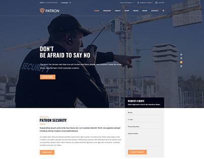Patron Landing page UI