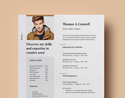 Resume Template Vol-08 [Free]