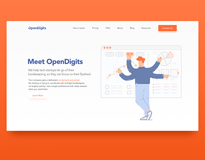 Opendigits Design Revamp. Illustrations / Icons / Logo