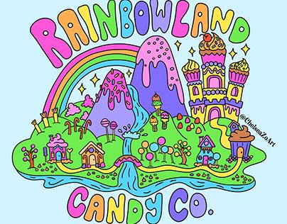 Rainbowland Candy Co. Logo