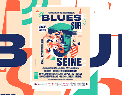 Blues Sur Seine - Poster and identity