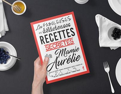 Livre de recettes : couverture et mise en page