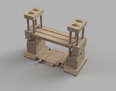 Wooden TrainLift bridge