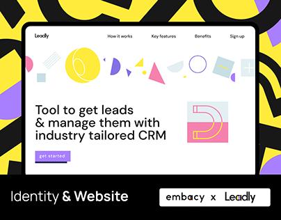 Leadly. Identity & website