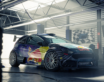 Fiesta in the garage - Full CGI