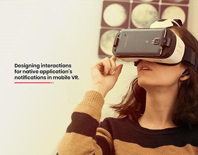 UI/UX   Notification in Mobile VR