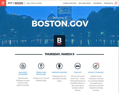Redesigning Boston.gov