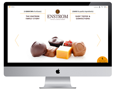 Enstrom Toffee & Confections Web Design