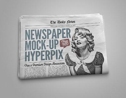 FREE PHOTOREALISTIC NEWSPAPER MOCKUP