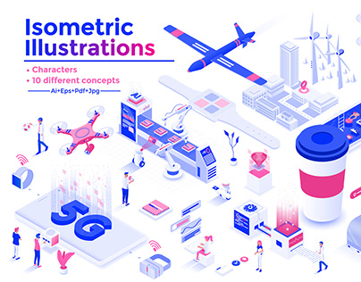 Modern flat design isometric illustration