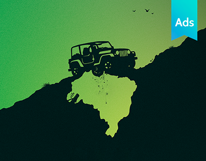 Print Ad // Jeep Wrangler: now made in Brazil.