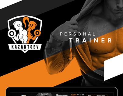 Kazantsev Personal Trainer Website Design