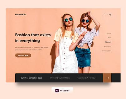 FashionHub. Web Design Free XD