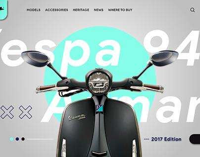 【UI/ Web】Vespa 946 x Armani