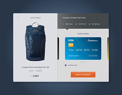 Online Shopping Checkout Screen