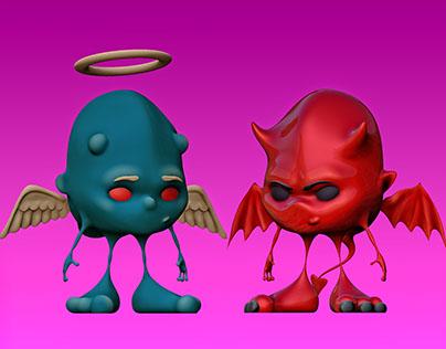 3D | Ángeles y Demonios