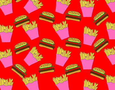 FoodLove   Comida rápida pattern
