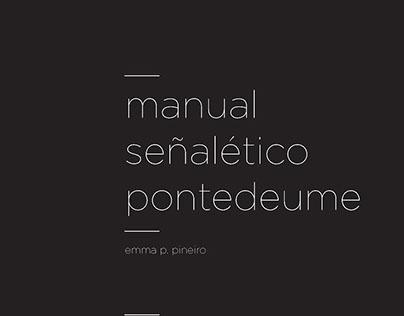 Manual Señalética Pontedeume