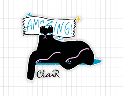 Clair Stickers