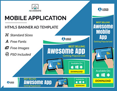 Mobile Application Banner- HTML5 Ad Templates