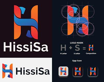 HissiSa logo, HS letter logo, Modern letter logo,