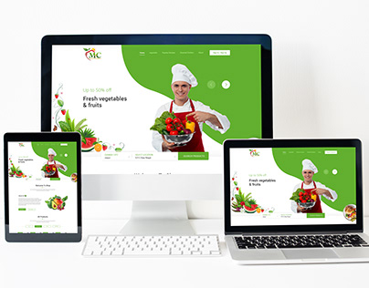 New Fruit and Vegetable Concept template PSD