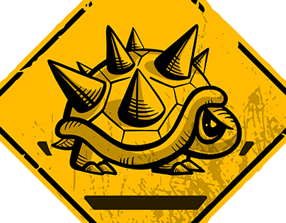 Caution Spiny Crossing