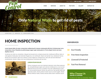 Pest Control One Page Parallax HTML Template