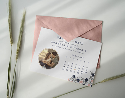 Free Save the Date Postcard Template & Envelope Mockup