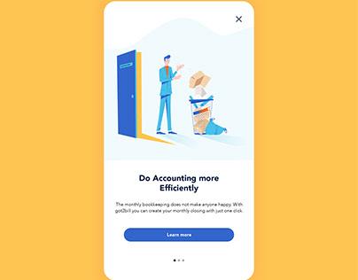 Got2bill App Onboarding Illustrations