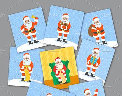 Santa Claus Character Poses
