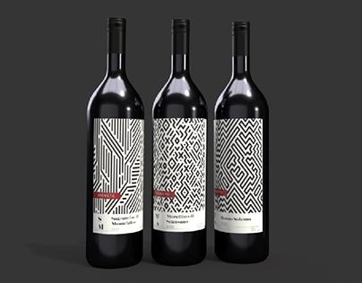 VIGNETO red wine labels
