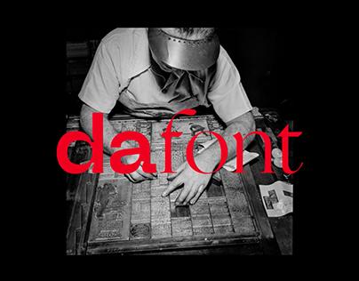 Rebranding for Dafont.com
