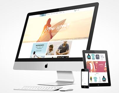 Screendesign responsive E-Commerce Surfer Onlineshop