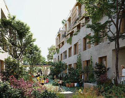 LA architectures - Logements Paul Meurice Paris XXe