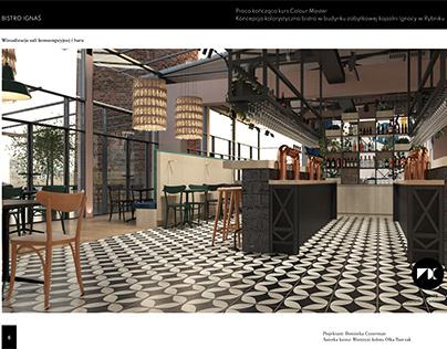 Bistro Ignaś interior design project