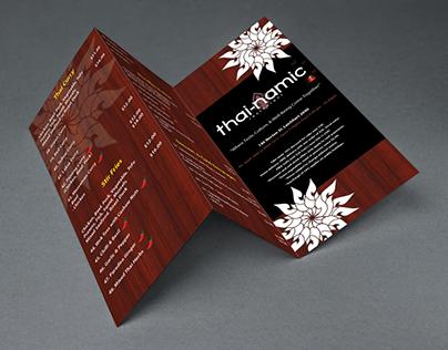 Menu Leaflet Design