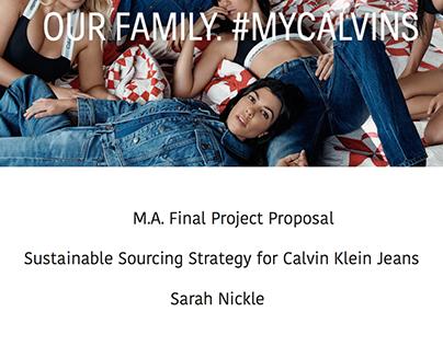 M.A. Final Project Proposal