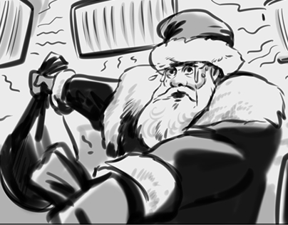 B/W storyboard MTS commercial 2016