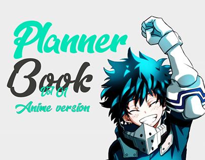 Planner book anime version