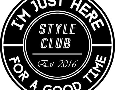 Style Club Circle Sticker