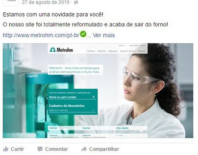 Social Media - Metrohm Brasil