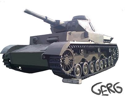 My Tank art, created with Microsoft Paint.
