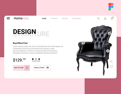 ECommerce UI - Sale Of chair